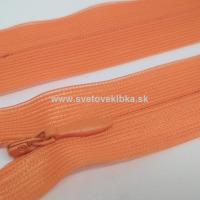 Zips šatový, špirálový - krytý - 35 cm - Oranžová 09