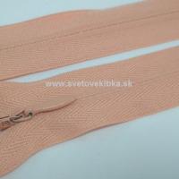 Zips šatový, špirálový - krytý - 35 cm - Lososová 13