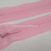 Zips šatový, špirálový - krytý - 35 cm - Ružová 15