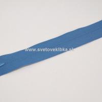 Zips šatový, špirálový - krytý - 35 cm - Modrá 23