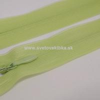 Zips šatový, špirálový - krytý - 35 cm - Svetlozelená 27