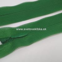 Zips šatový, špirálový - krytý - 35 cm - Trávovo zelená 30