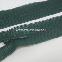 Zips šatový, špirálový - krytý - 35 cm - Tmavozelená 31
