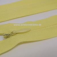 Zips šatový, špirálový - krytý - 18 cm - Svetložltá 05