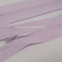 Zips šatový, špirálový - krytý - 18 cm - Svetlofialová 16