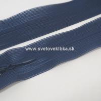 Zips šatový, špirálový - krytý - 18 cm - Tmavomodrá 25