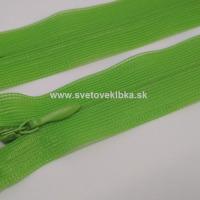Zips šatový, špirálový - krytý - 18 cm - Zelená 29