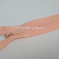 Zips šatový, špirálový - krytý - 18 cm - Pudrová 60