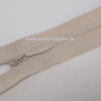 Zips šatový, špirálový - krytý - 18 cm - Svetlobéžová 63