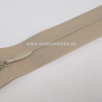 Zips šatový, špirálový - krytý - 18 cm - Sivohnedá 64