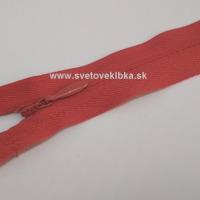 Zips šatový, špirálový - krytý - 18 cm - Tehlová 65
