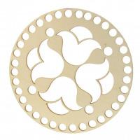 Drevené dno - Kruh - vyrezávaný vzor 1