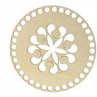 Drevené dno - Kruh - vyrezávaný vzor 2