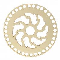 Drevené dno - Kruh - vyrezávaný vzor
